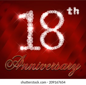 18 year Happy Birthday Card, 18th birthday - vector EPS10