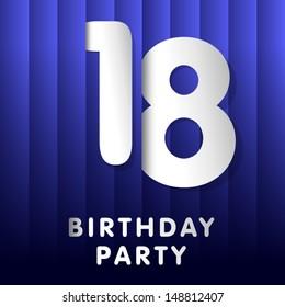 18 years birthday card
