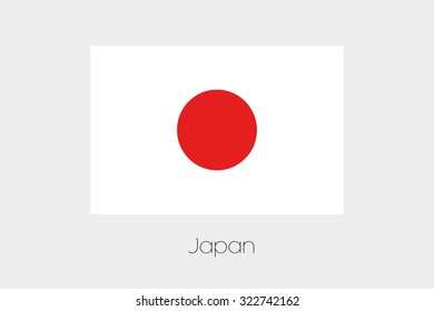 A 180 Degree Rotated Flag of  Japan