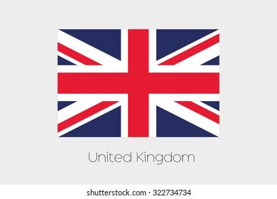 A 180 Degree Rotated Flag of  United Kingdom