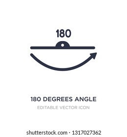 180 degrees angle icon on white background. Simple element illustration from Shapes concept. 180 degrees angle icon symbol design.