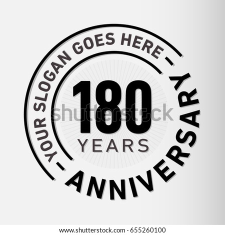 180 years anniversary logo template vector のベクター画像素材
