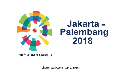 18th Asian Games Vector logo colorful special  73 Years Happy Independence Indonesia