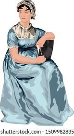 18th century English Author Jane Austen Vector