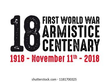 1918-2018 FIRST WORLD WAR CENTENARY - ARMISTICE DAY
