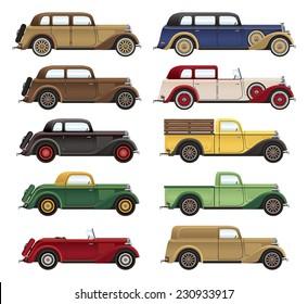 1930s Car Lineup