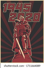 1945 - 2020 World War 2 Victory Day Poster, Old Soviet Propaganda Placards Style