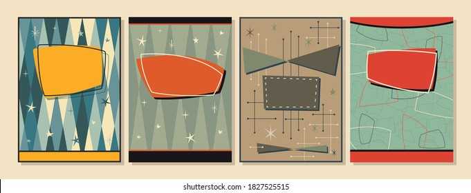 1950s, 1960s Background, Mid Century Modern Patterns, Covers, Posters, Postcard Templates, Vintage Colors