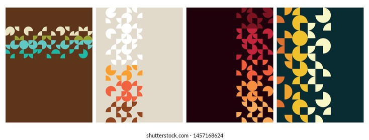 1960s, 1970s Backgrounds, Vintage Colors and Shapes, Decorative Patterns