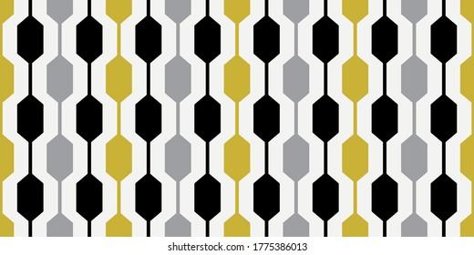 1960s Wallpaper Pattern   Stylish Mid Mod Geometric Design   Mid Century Style   Seamless 60s Retro Graphic