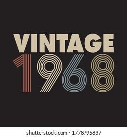 création de t-shirt rétro vintage 1968