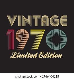1970 vector vintage retro tshirt design