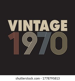 1970 vector vintage retro tshirt design