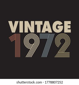 1972 vector vintage retro tshirt design