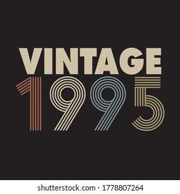1995 vector vintage retro tshirt design