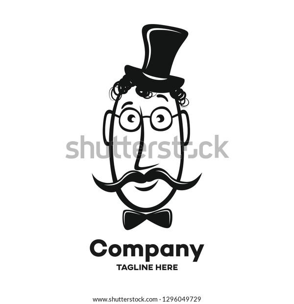 19th Century Gentleman Logo Stock Vector Royalty Free 1296049729