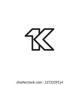 1k letter icon logo vector template