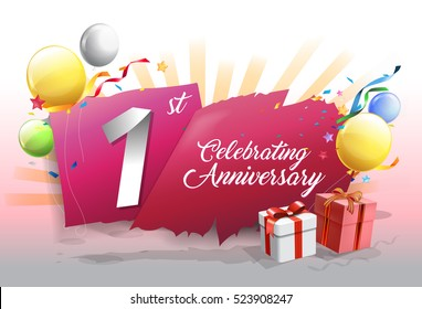 1st anniversary stock images royalty free images & vectors
