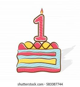 1st birthday or anniversary greeting design