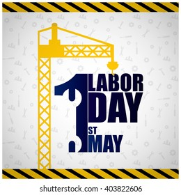 1st May Labor Day. May first workers day icon EPS 10 vector royalty free stock illustration for greeting card, ad, promotion, poster, flier, blog, article, social media, marketing