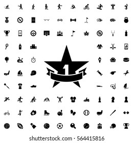 1st place star icon illustration isolated vector sign symbol
