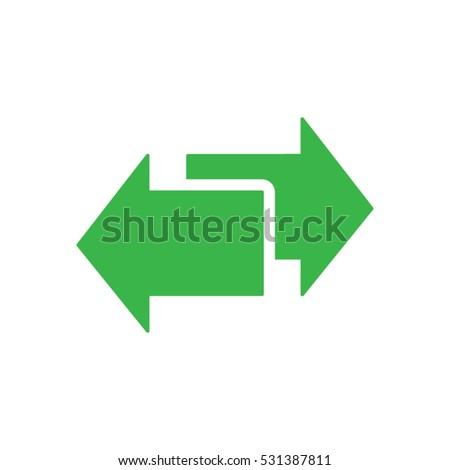2 Arrows Icon Vector Eps 10 Stock Vector Royalty Free 531387811
