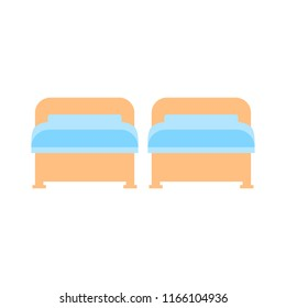 Bedroom With Two Beds Stock Vectors Images Vector Art Shutterstock