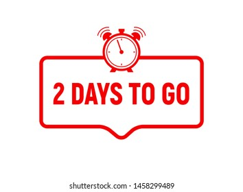 2 day to go last countdown icon. Two day go sale price offer promo deal timer, 2 day only.
