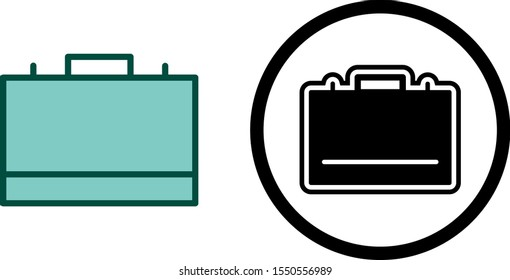 2 Icon Set Of briefcase For Personal And Commercial Use...