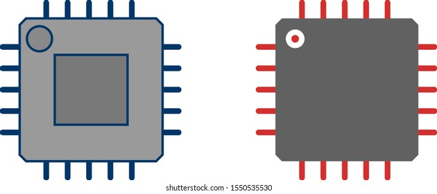 2 Icon Set Of Processor For Personal And Commercial Use...