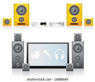 2 LCD Home Cinema Illustrations