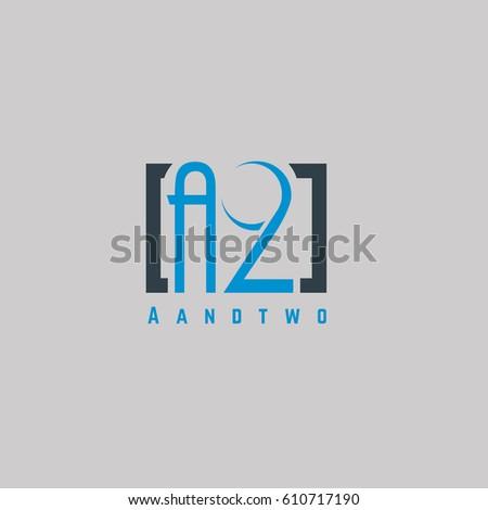 2 letter logo design vector element stock vector royalty free