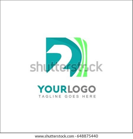 2 letter logo template design vector stock vector royalty free