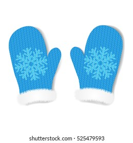 2 Mittens, With Gradient Mesh, Vector Illustration