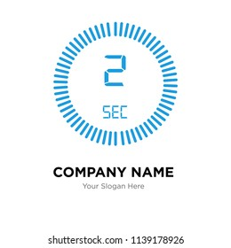 The 2 seconds company logo design template, The 2 seconds logotype vector icon, business corporative