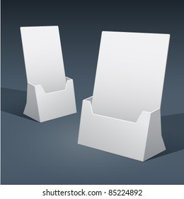 2 sizes of blank brochure holder template for designers. Vector EPS10.