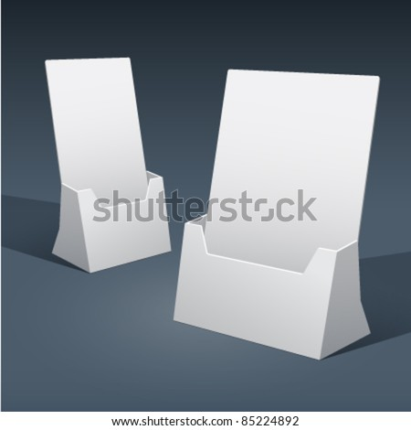 2 sizes of blank brochure holder template for designers vector eps10 - Paper Brochure Holder Template
