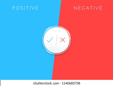 2 Step Positive Negative List Infographic Colorful