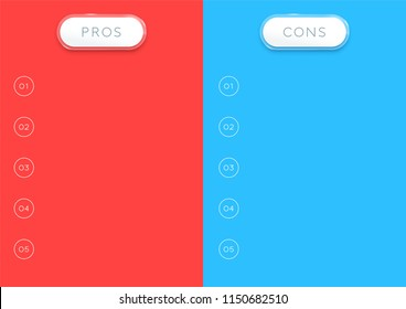 2 Step Pros and Cons List Infographic Vertical