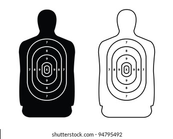 2 Targets in Black and White for Shooting Practice.