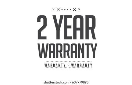 2 year warranty icon vector vintage grunge black guarantee background