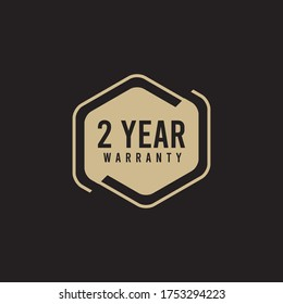 2 Year Warranty Logo Icon Vector Template Design Illustration