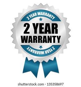 2 year warranty seal blue