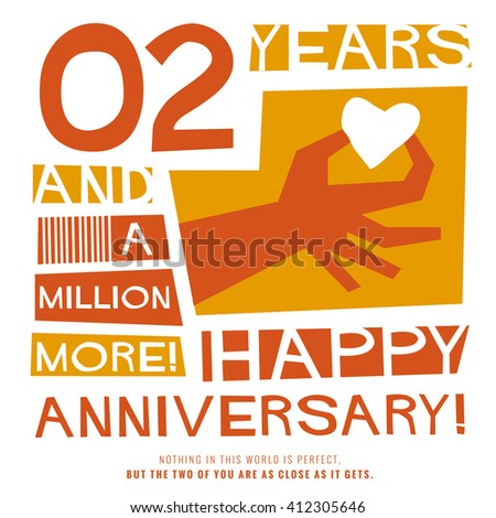 2 Years Happy Anniversary Vector Illustration Stock Vector Royalty