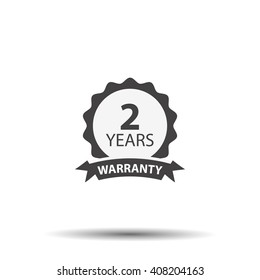 2 years warranty icon isolated on white background