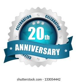 20 anniversary button