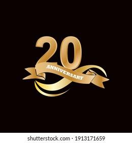 20 Anniversary celebration template vector design illustration