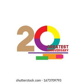 20 anniversary celebration vector concept template design illustration