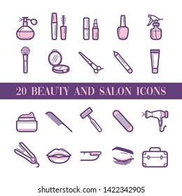 20 Beauty and salon icons