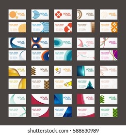 20 colorful business card template vector on black background